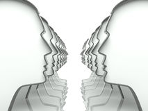 Free Many Heads In The Perspective Background Royalty Free Stock Photo - 25614545
