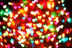 Many Heart Bokeh Stock Image