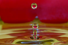 Many heart drops Royalty Free Stock Images