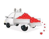 Many Heart on A Pickup Truck Ready for Sale Royalty Free Stock Photography
