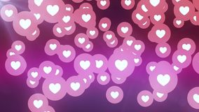Heart shape fall from sky like icon random moving animation background - New unique quality universal motion dynamic. Many heart shape like icon moving on stock footage