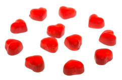 Many Heart Shaped Fruit Jellies Stock Images