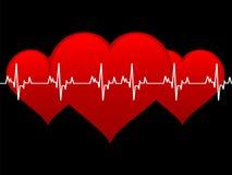 Many hearts Stock Image