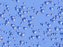 Many hearts background of Valentine's day. Love texture Royalty Free Stock Image