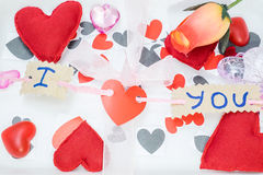 Many hearts of different colors Stock Photography