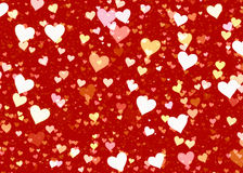 Many hearts on red backgrounds of Love symbol Royalty Free Stock Images