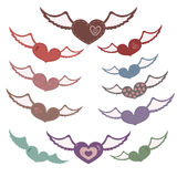 Many hearts with wings Royalty Free Stock Photography