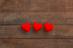 Many Hearts on wood Royalty Free Stock Photos