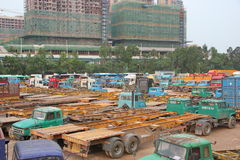 Many heavy truck in SHENZHEN Stock Images