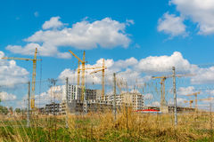Many high-rise buildings under construction Stock Photos