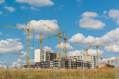 Many high-rise buildings under construction Royalty Free Stock Photos