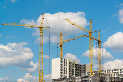 Many high-rise buildings under construction Royalty Free Stock Image