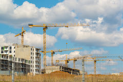 Many high-rise buildings under construction Royalty Free Stock Images