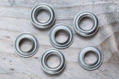 Free Many Hole Rivets On Wood Macro Royalty Free Stock Images - 90926039