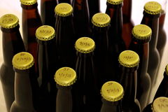 Many Homebrews In Amber Bottles From The Top Royalty Free Stock Photos