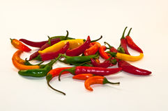 Many hot peppers Stock Photos