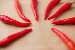 Many hot red peppers Royalty Free Stock Photography