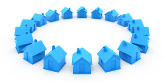 Many houses Royalty Free Stock Photography