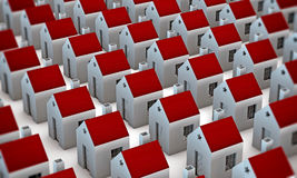 Many houses Royalty Free Stock Photo