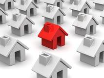 Many houses Stock Image