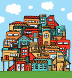 Many houses / Colorful Tight community Stock Images