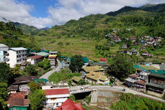 Many houses on the hill in Banaue, Philippines Royalty Free Stock Photography
