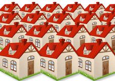 Many houses with red roofs Stock Images