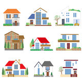 Many houses Royalty Free Stock Image