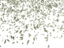 Many hundred dollar bills Stock Images
