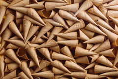Many ice cream cones. Abstract. Many ice cream cones in one plce Royalty Free Stock Images