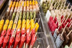 Many ice lollies. Different flavors Stock Photos