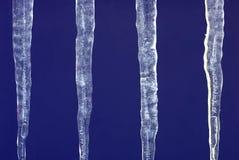 Many icicles Stock Photo