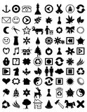 Many icons. Illustration of a set of different icons Royalty Free Stock Image