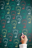 Many ideas on a blackboard. Stock Photo