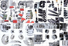 Many images of new spare parts kit Stock Photos