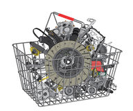 Many images of spare parts Stock Photo