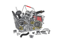 Many images of spare parts Stock Images
