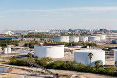 Many Industrial Tanks Royalty Free Stock Image