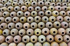 Many jars of clay Stock Photos