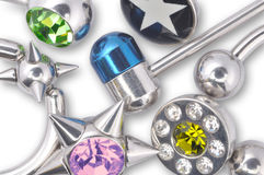 Many jewelry for piercing Royalty Free Stock Image