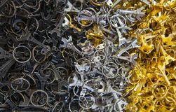 Many key-rings of Paris Stock Image