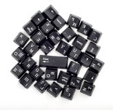 Many keyboard buttons Royalty Free Stock Photo