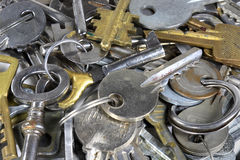 Many keys. Lots of different old keys Stock Images