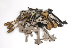 Many keys isolate on white Stock Image