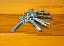 Many keys on table Royalty Free Stock Photo