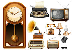 Many kind of antique electornic devices Royalty Free Stock Image