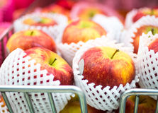 Many kind of apple at shelf  in supermarket Royalty Free Stock Photography