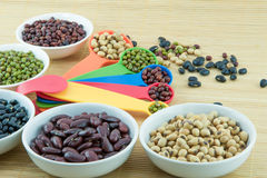 many kind of bean Royalty Free Stock Photography
