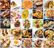 Many kind of different food Royalty Free Stock Image
