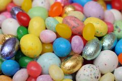 Many kind of egg candy Stock Photo